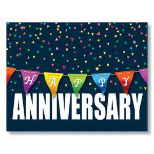 anniversary color banner card work anniversary card