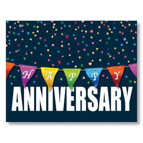 happy work anniversary card template anniversary color banner card work anniversary card