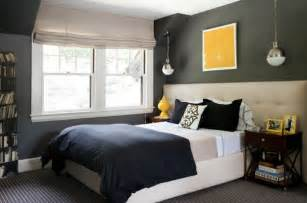 Bedroom Paint Ideas Gray - wonderful chic gray blue bedroom design photos 4 with charcoal gray walls paint color