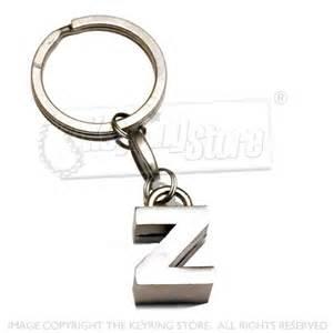 letter z alphabet metal alloy keyrings premium letter