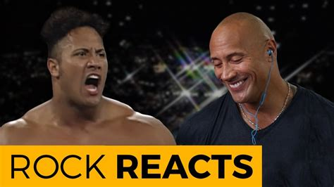 show me pictures of the year the rock reacts to his match 20 years of the