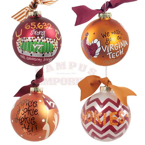 virginia tech 4 ornament set