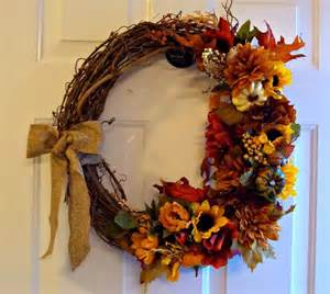 diy fall wreath arts crafts pinterest