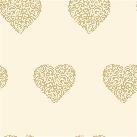 love wallpaper shimmer hearts wallpaper cream gold
