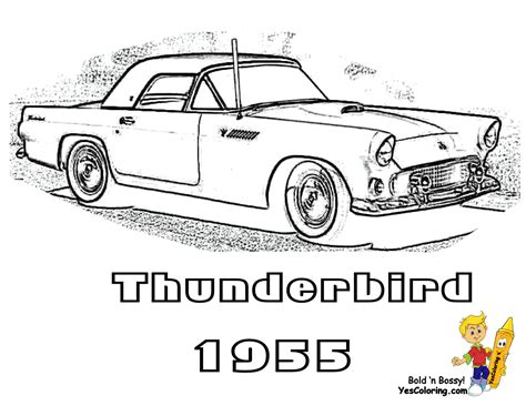 coloring pages of ford cars fierce car coloring ford cars free mustangs t bird