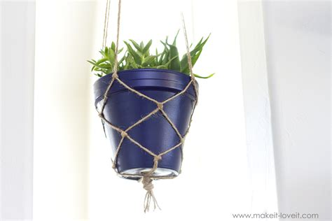 Make Plant Hanger - how to make a simple rope plant hanger make it and it
