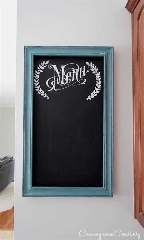 painting chalkboard signs how to paint a chalkboard menu for the kitchen wall