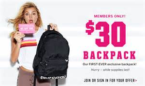 amazon black friday code 2016 victoria s secret pink nation campus backpack only 30