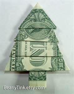 dollar origami pine tree by beanytink on etsy