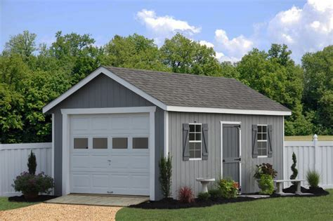 12x20 Shed Price by Prefab One Car Garage Sheds Traditional Garage And
