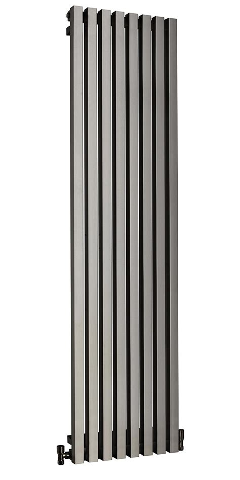 stainless steel radiators for bathrooms dq heating dune brushed stainless steel radiator 460 x 2000mm