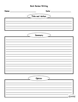 book review writing template graphic organizer by