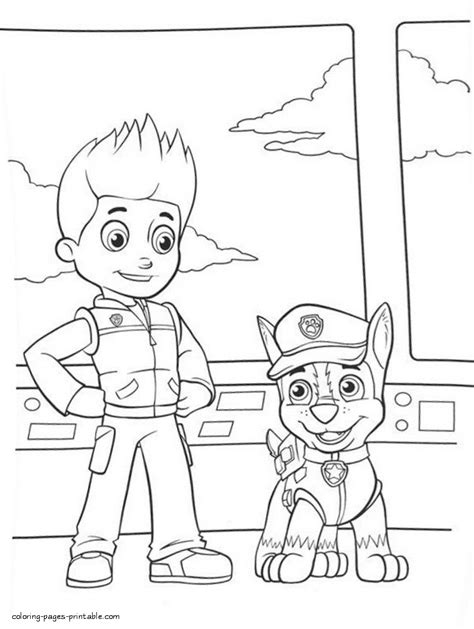 sky paw patrol coloring pages printable sketch coloring page