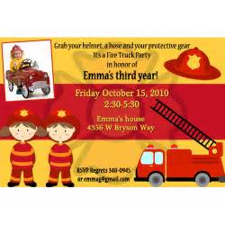 fire truck birthday invitations ideas bagvania free