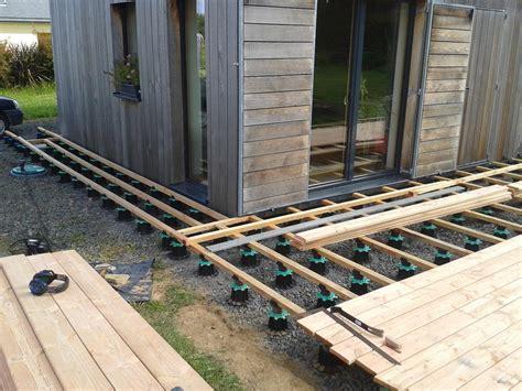 Terrasse En Bois Sur Plot 2934 by Terrasse Sur Plots Trelevern Koateco Construction