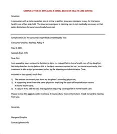 Letters For Insurance Appeals 11 Appeal Letter Templates Free Sle Exle Format