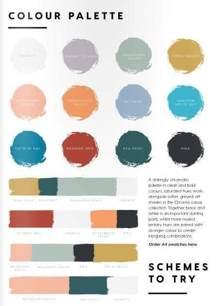 graphic design color palettes 2017 2017 palettes from dulux australia offer distilled colour