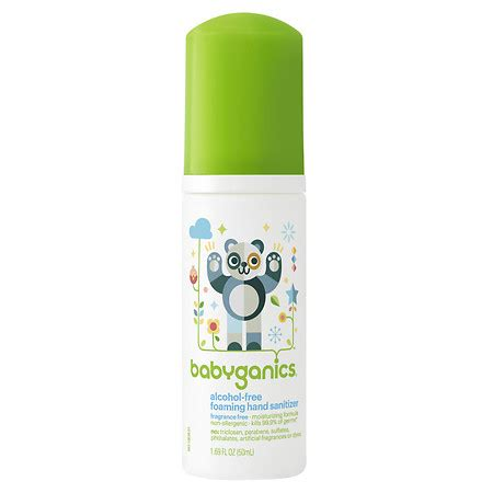 Baby Ganics Foaming Sanitizer Fragrance Free 250ml babyganics free foaming sanitizer fragrance free walgreens
