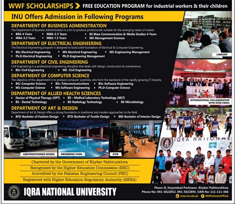 Courses Of Mba In Iqra by Admission Open In Iqra National Peshawar 11 Aug