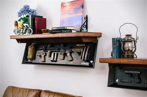 desk with hidden storage best gun concealing furniture to keep deadly weapons secure