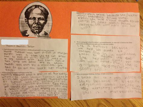 harriet tubman elementary biography a lesson on ruby bridges marginalia