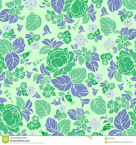 floral pattern repeat vector seamless repeating floral pattern stock vector image