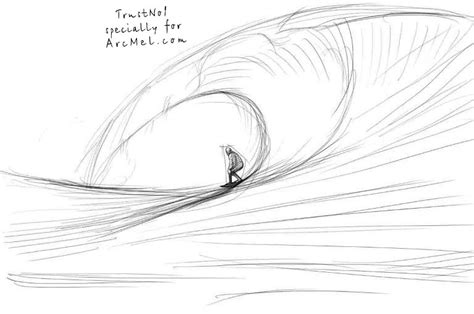 how to draw doodle waves surf wave drawing www pixshark images galleries