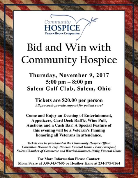 bid and win bid and win poster 2017 jpg community hospice