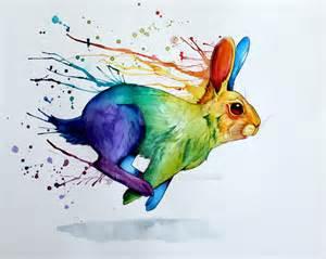 rainbow rabbit trollcreak deviantart