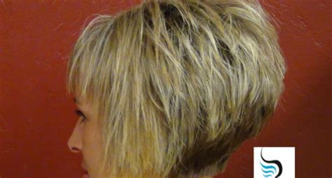 photo very short a frame bob short stacked bob hairstyles back view for fine hair