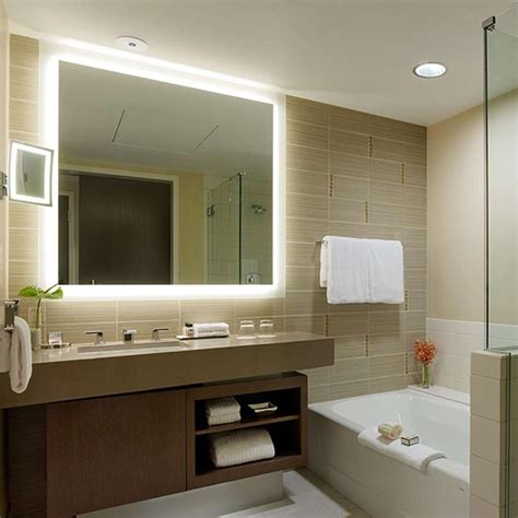 selecting lighted mirror with best shape the homy design