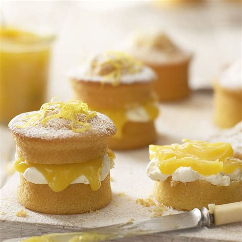 Mini Lemon Curd Sponge Cakes   Cake Recipes   Lakeland