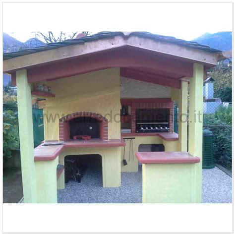 forni a legna e barbecue da giardino forno e barbecue a legna italia cm280x270x280h in cemento