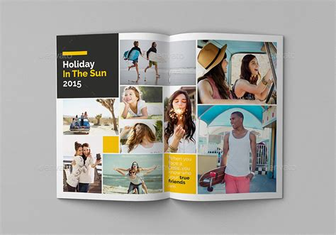 School Yearbook Vol2 By Giantdesign Graphicriver Yearbook Collage Template