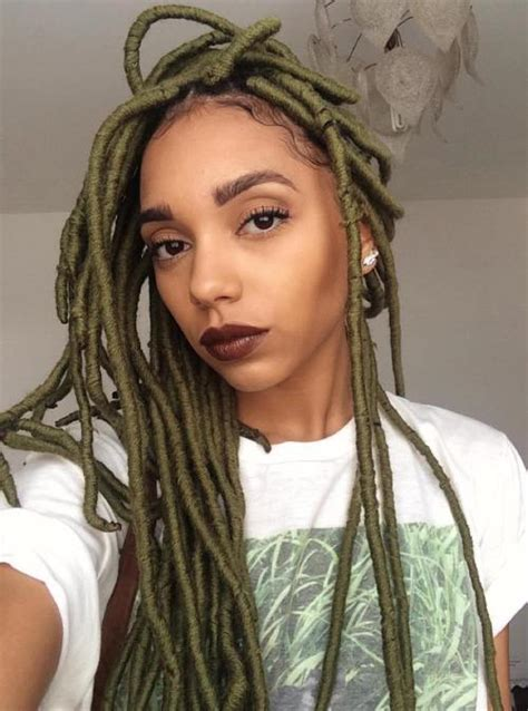 Hairstyles With Dreads by 20 Playful Ways To Wear Yarn Dreads