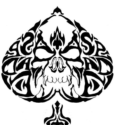 tribal spade tattoos pin tribal skull spade on