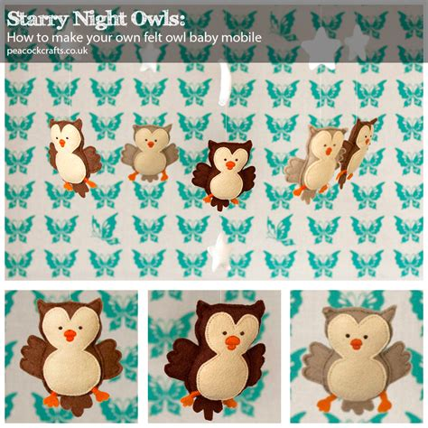 pattern for felt owl mobile starry night owls felt baby mobile tutorial allcrafts