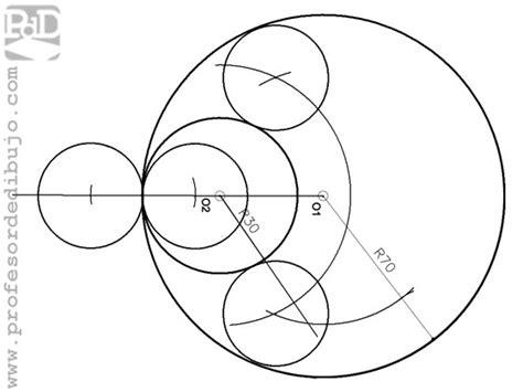 tangentes interiores a dos circunferencias tangencias ii