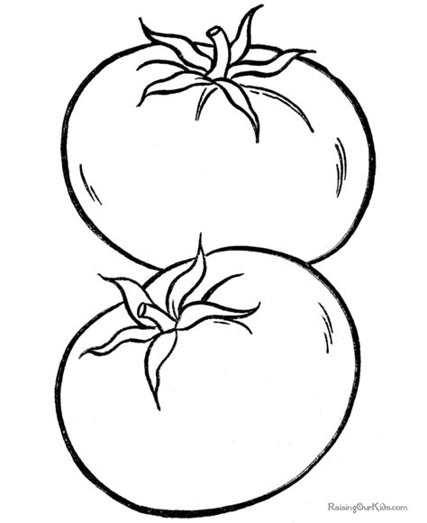 the gallery for gt tomato coloring page