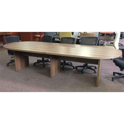 12 Conference Table by Cherryman 12ft Racetrack Top Laminate Conference
