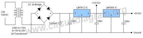 5v 12v power supply circuit diagram 12v 5v power supply circuit diagram