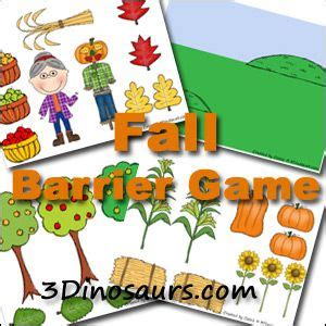 printable barrier games fall barrier game 3dinosaurs com fall leaves