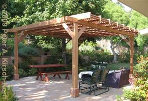 Patio Awning Brackets Modern Wood Dining Arbor With Lattice Panels Pacific