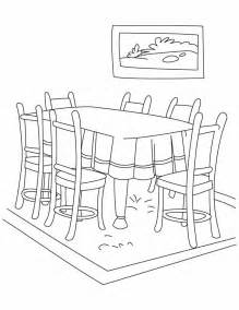 Dining Room Table Clipart Black And White Dinning Table Coloring Pages Free Dinning Table Coloring Pages For Best