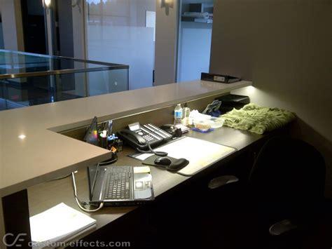 illuminated reception desk custom effects led solutions surrey bc canada