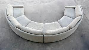 semi circular sectional sofa milo baughman semi circular sofa at 1stdibs