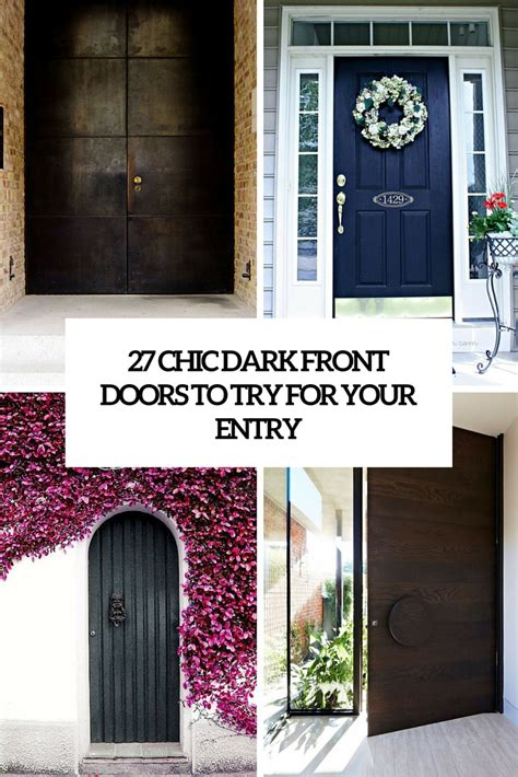 Front Door Covers 27 Chic Front Doors To Try For Your Entry Shelterness