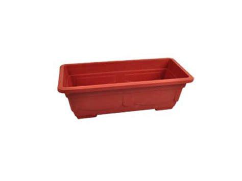 rectangular clay look plastic pot case of 16