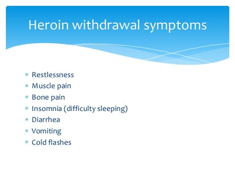 After Methadone Detox Symptoms by Heroin