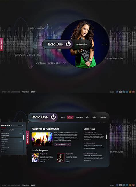 html5 player template radio one html5 template id number 300111662 from www